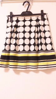 レトロドット柄スカート