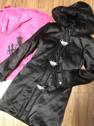 美品 ビジュービット N3B コート ブラック ダウン