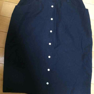 IENA ネイビー 前ボタン スカート