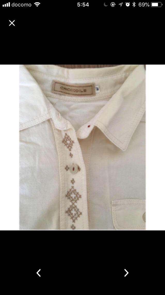 美品!クロコダイルの刺繍シャツ!