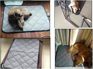 ペット 犬 ねこ用 グレー 小 お食事マット 保護マット