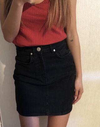 ZARA デニムスカート 黒
