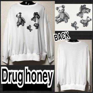 【新品/Drug honey】スケルトンテディプルオーバー