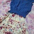 セット販売カットソー×花柄スカートセット