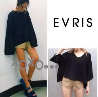 新品 EVRIS カットオフフェイクレザー ショートパンツ