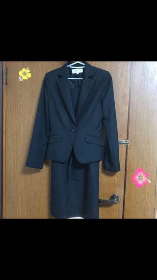 ストライプ スーツ 3点セット 美品 7号