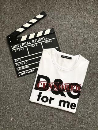 送料無料 D&G2018新品Tシャツ