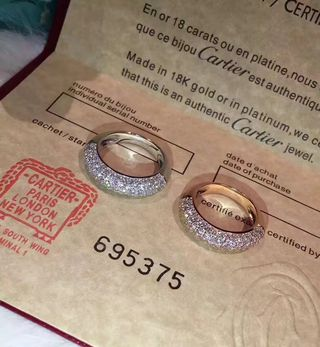 Cartier 美品 イアリング ダイヤ付け 4-79