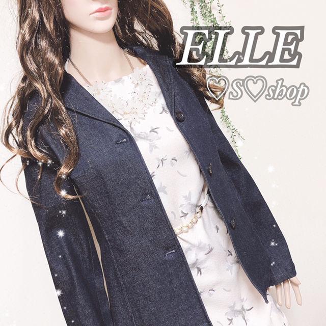 ELLE デニムジャケット スリムデザイン(ELLE(エル) ) - フリマアプリ&サイトShoppies[ショッピーズ]