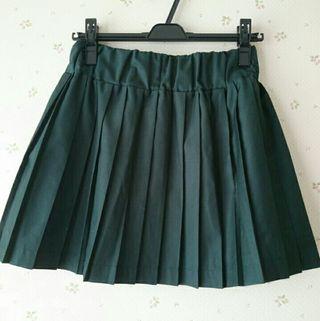 ミスティウーマングリーンプリーツスカート