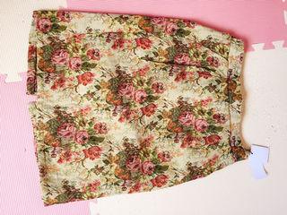 花柄スカートロングワンピセット