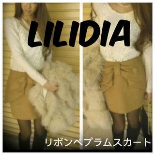Lilidia リリディア リボンペプラムスカート リボン