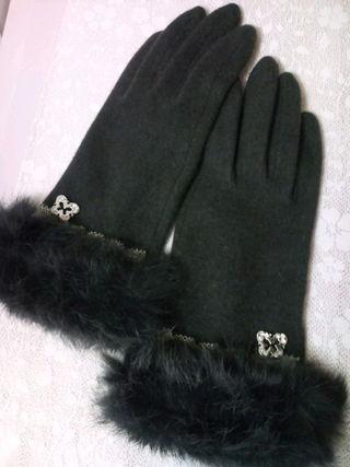 ANNA SUI†ファー付き手袋