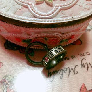 正規品DUB7号ピンキーリングピンクストーン付指輪セット