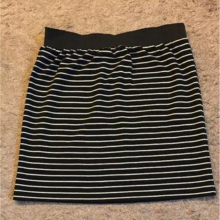 mysty womanボーダーミニタイトスカート