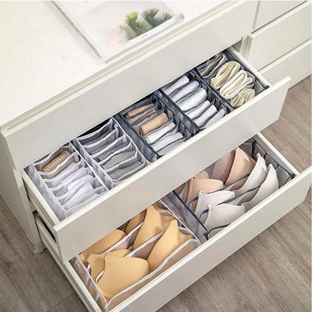 3点セット 下着収納ケース 靴下 整理 雑物 多機能 グレー
